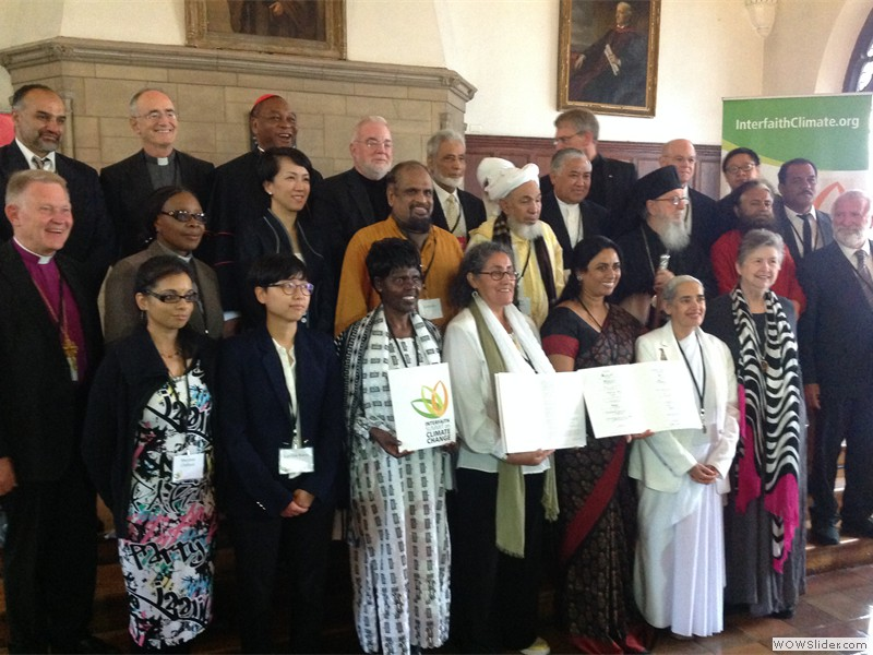 Sister Jayanti, one of thirty religious leaders at the interfaith Summit on Climate Change in New York
